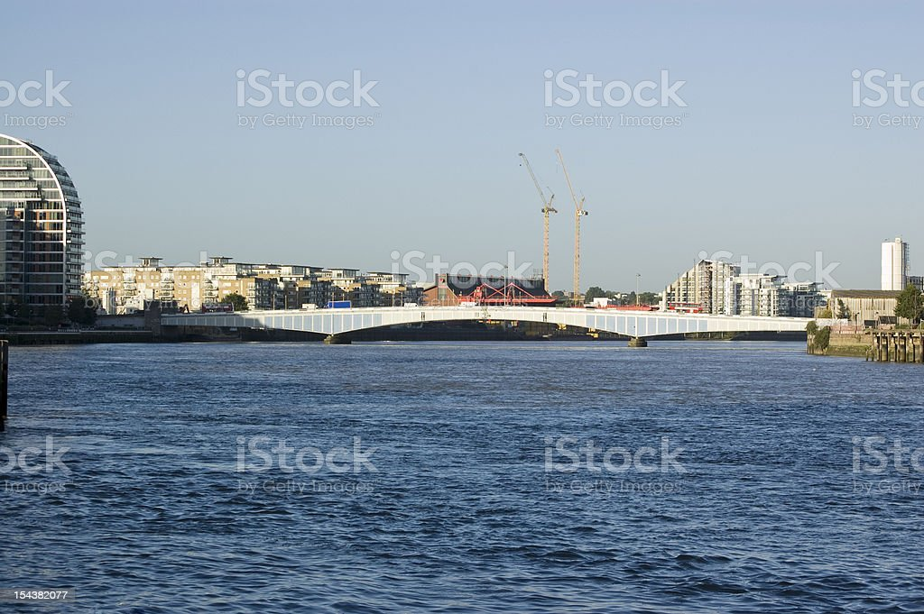 Wandsworth Bridge, London stock photo