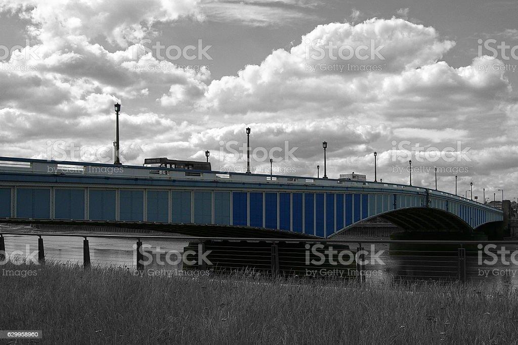 Wandsworth Bridge - London stock photo