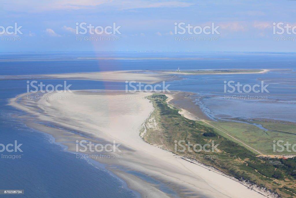 Wangerooge Ost aus der Vogelperspektive stock photo