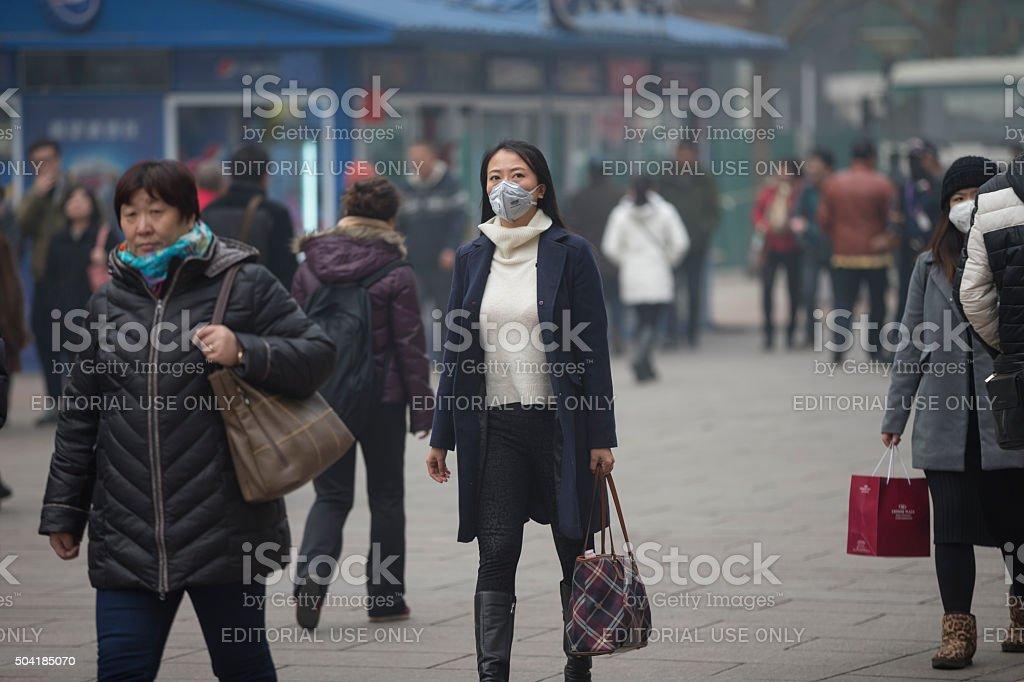 Wangfujing Walking Street in ŒBeijing,china stock photo