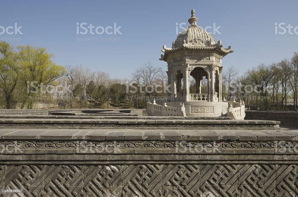 Wanhua Zhen Maze (labyrinth) in Old Summer Palace royalty-free stock photo
