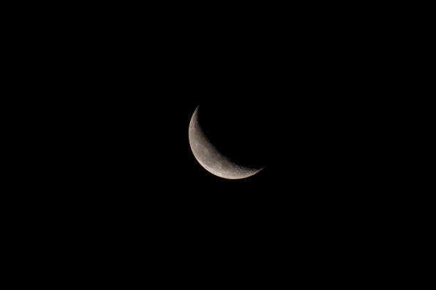 Waning Crescent Moon stock photo