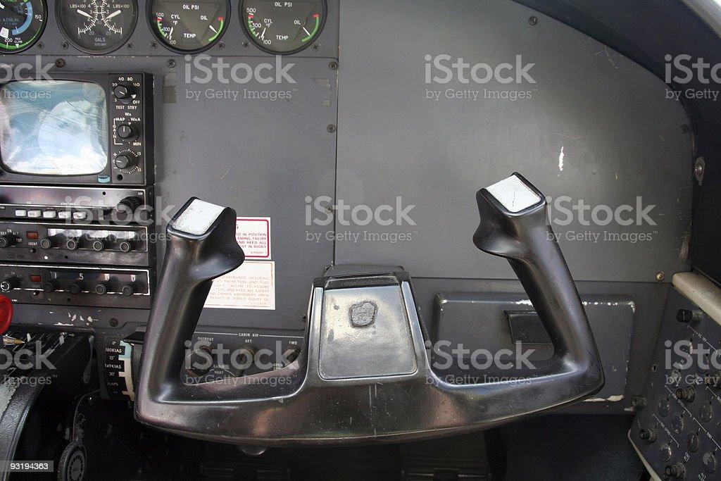 Wanna fly the plane? stock photo