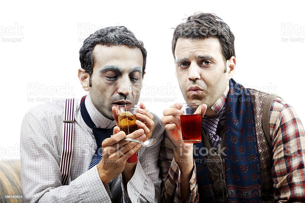 Wannabe Seniors Sipping Some Tea royalty-free stock photo