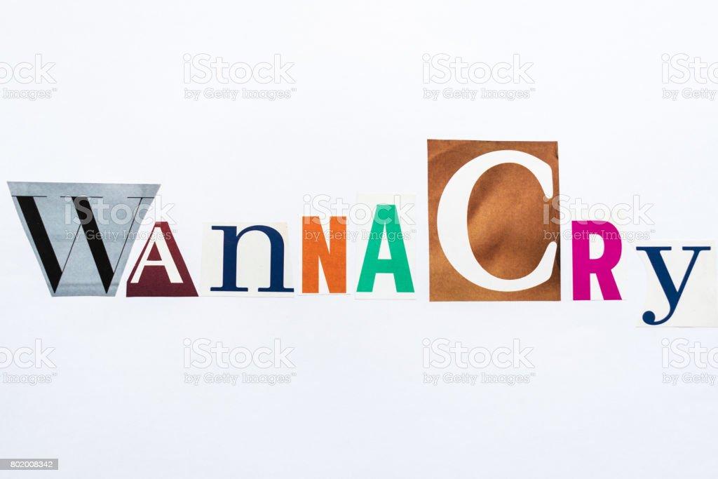 WannaCry - note stock photo