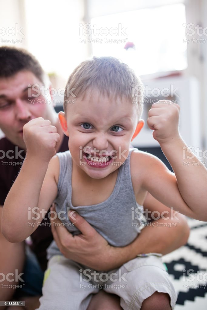 I Want More Cookies Little Boy Angry Face Stock Photo