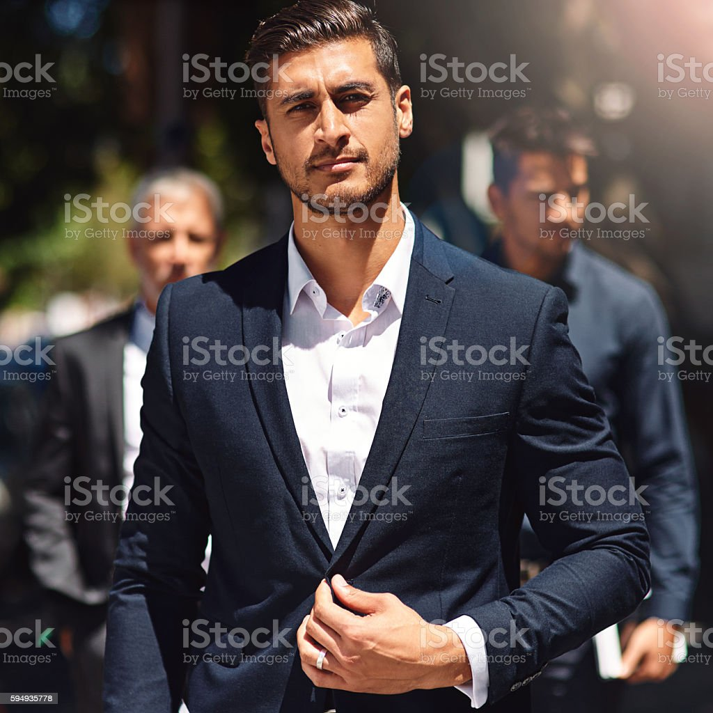 Want to be a success? Suit up and show up stock photo