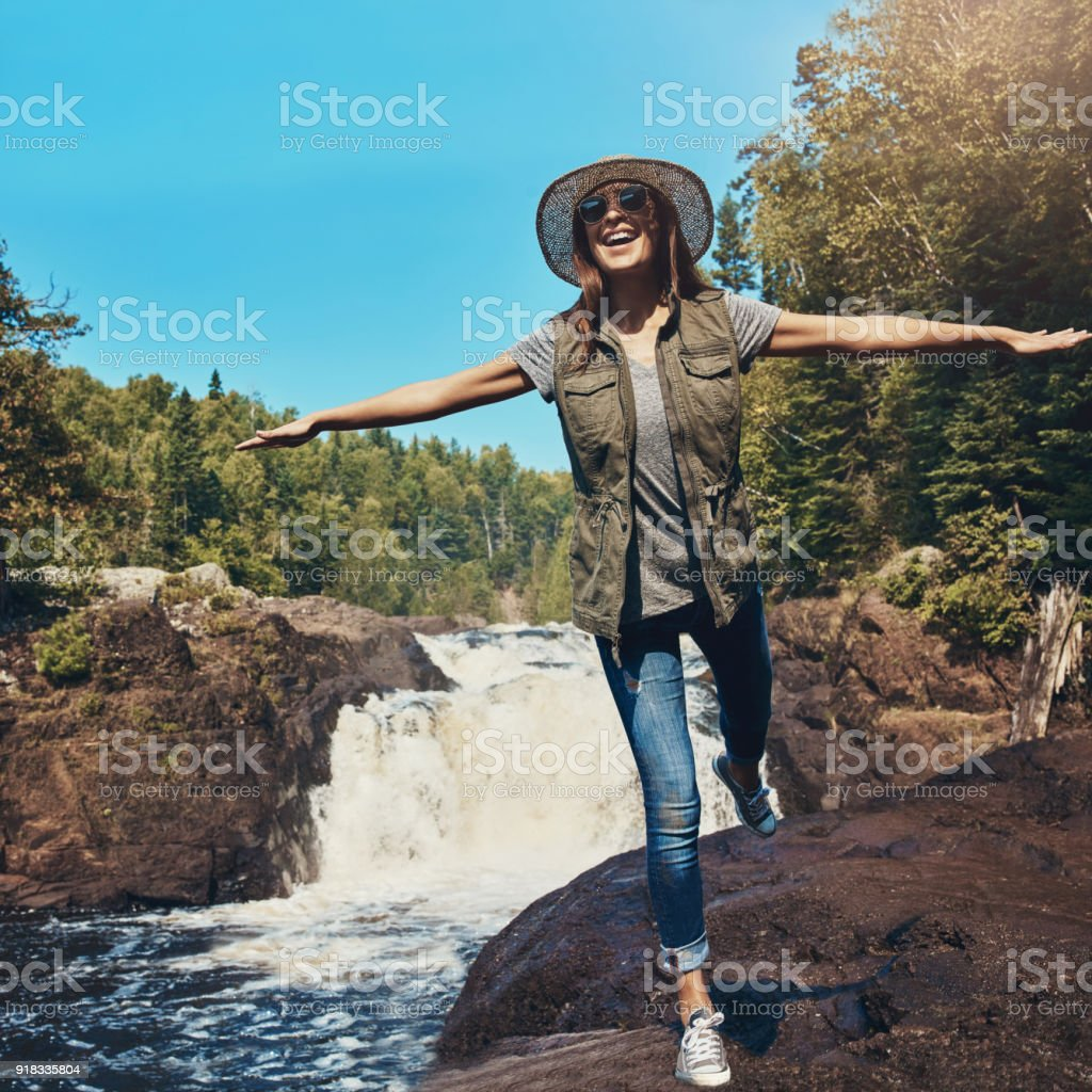 Want to feel alive? Spend a day in nature stock photo