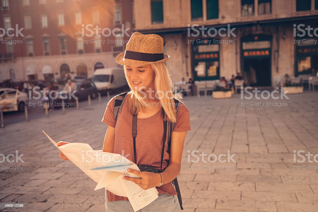 I want to follow the map to it's edges stock photo