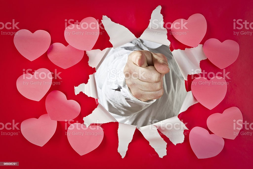 I want you, Valentine royalty-free stock photo