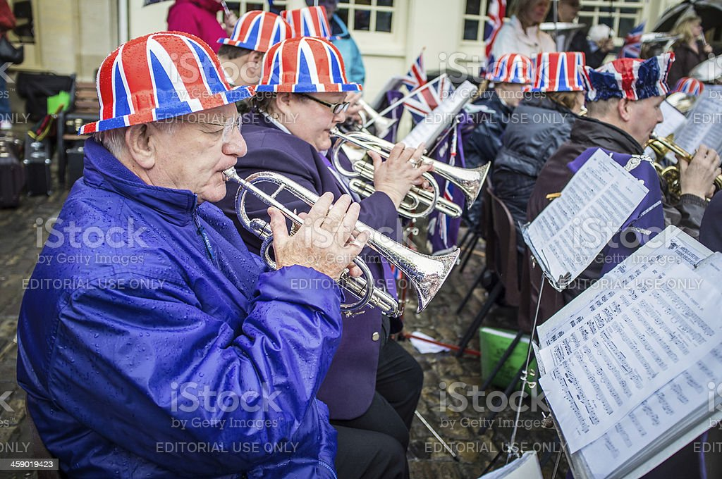 Wantage Brass Band Celebrates Queen's Diamond Jubilee royalty-free stock photo
