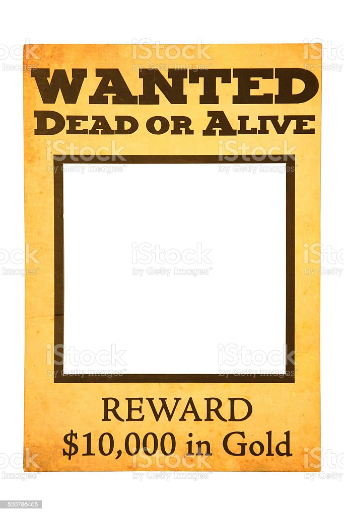 wanted dead or alive blank poster with path stock photo more