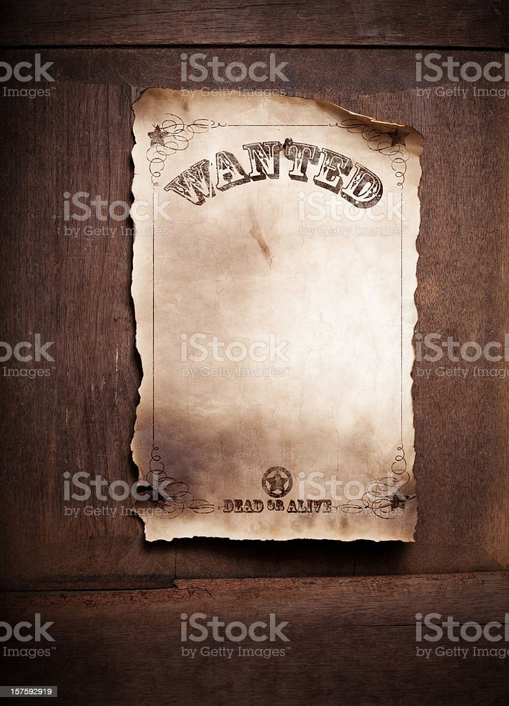 Wanted Dead or Alive Poster XXL royalty-free stock photo