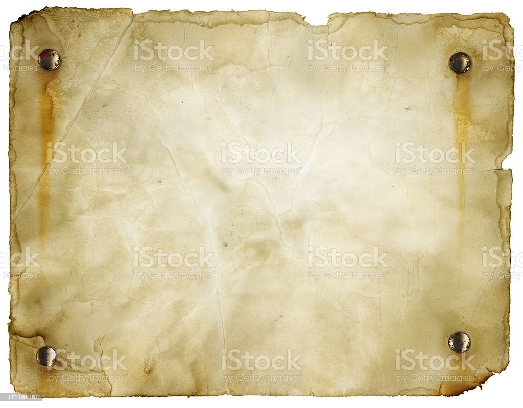 Wanted Poster (Clipping Path; XXL) royalty-free stock photo