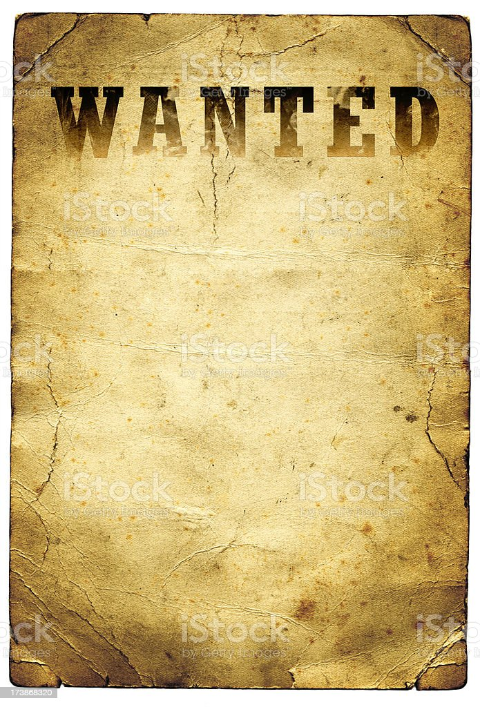 Wanted Poster Wild West stock photo 173868320 – Free Printable Wanted Poster