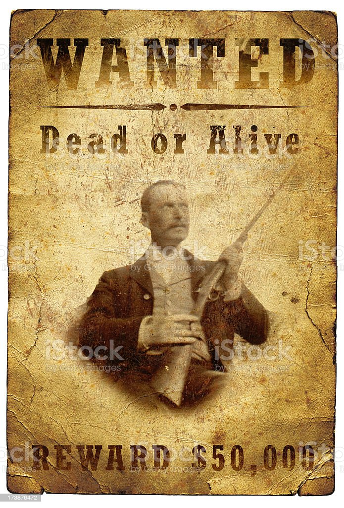 Wanted Poster Wild West royalty-free stock photo
