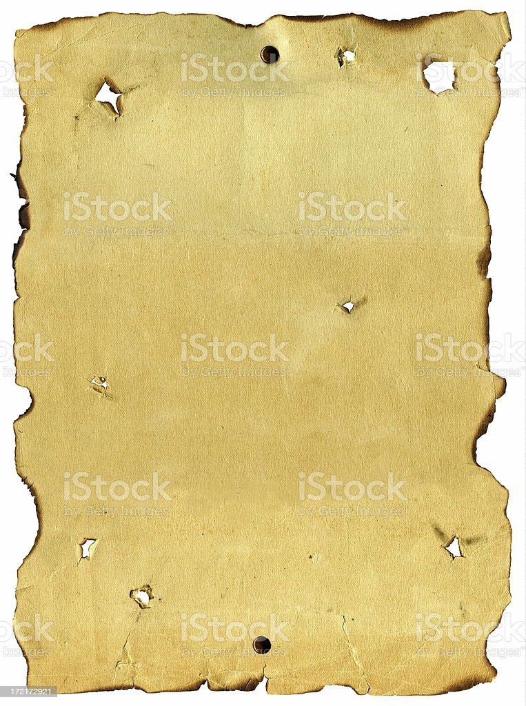 Wanted Poster with Bullet Holes royalty-free stock photo