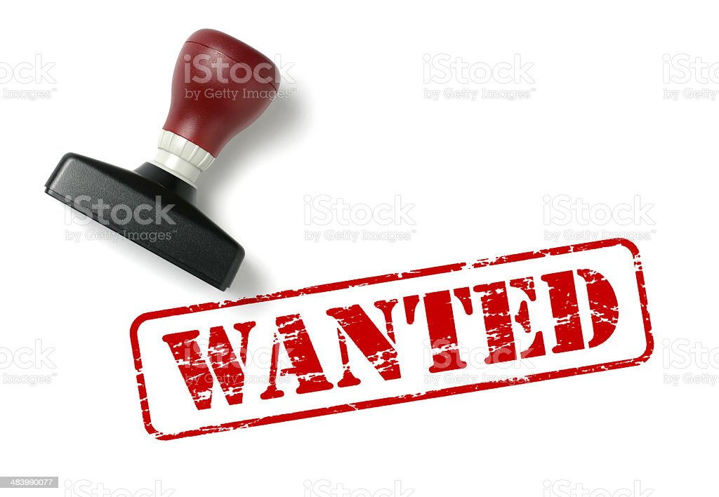 Wanted Rubber Stamp royalty-free stock photo