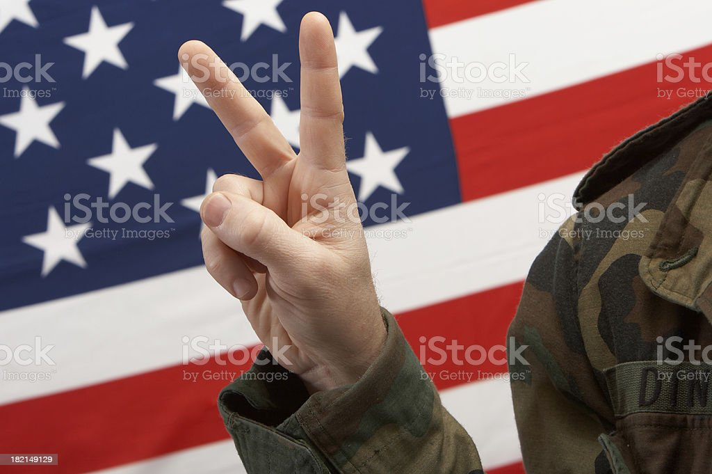 War and Peace stock photo