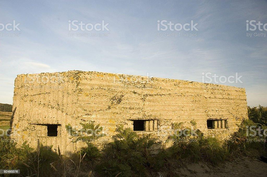 War bunker royalty-free stock photo