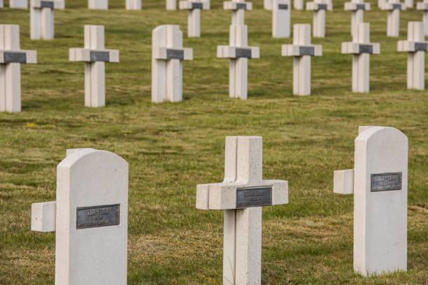 War Cemetery Chatillon-sur-Marne Graves stock photo