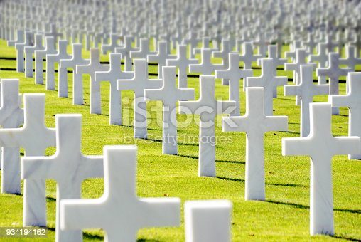 War cemetery in Normandy, France (US forces)