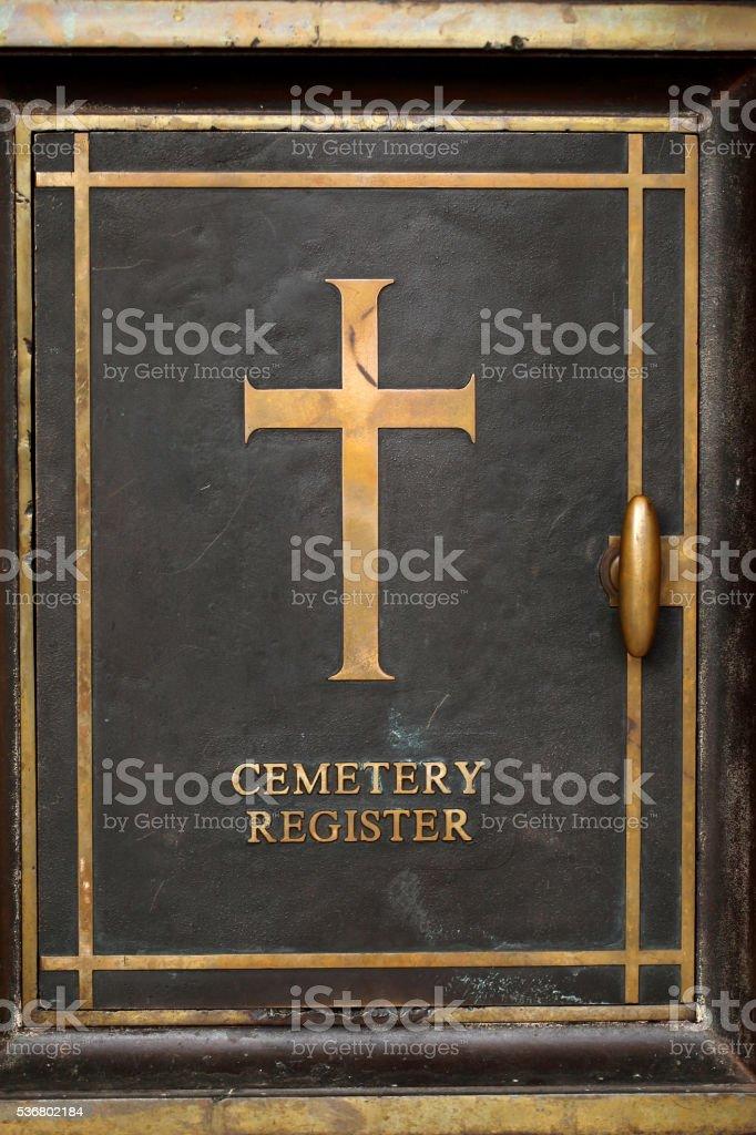 War cemetry register, Chennai,India stock photo