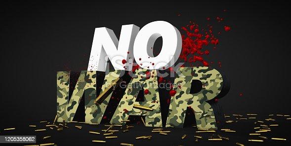 486568999istockphoto war concept camouflage texture 3d render text 1205358062