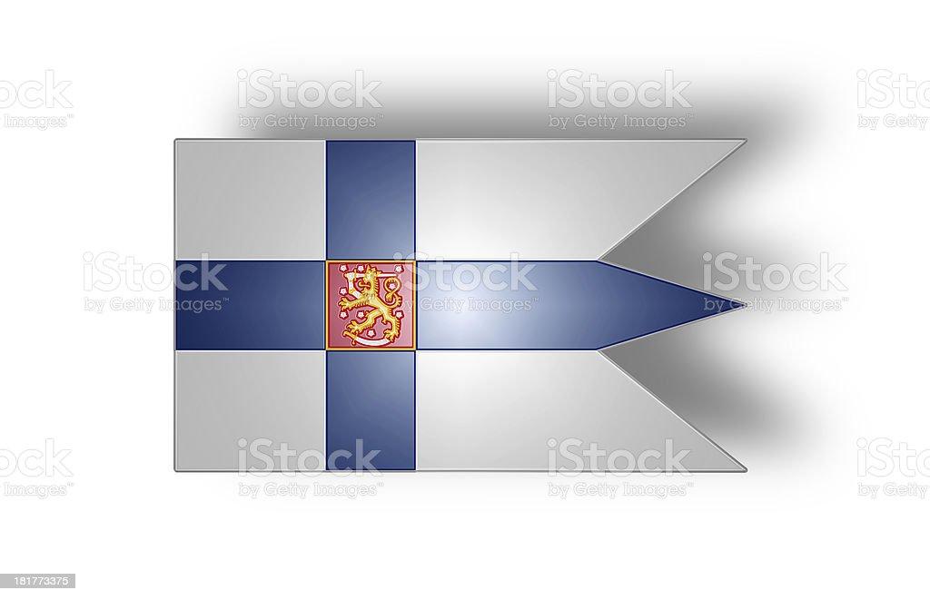 War flag of Finland (stylized I). stock photo