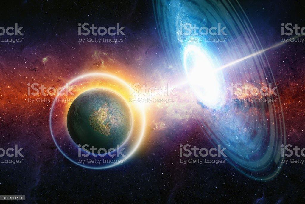 War in deep space - foto de stock