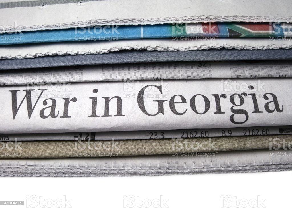 War in Georgia stock photo