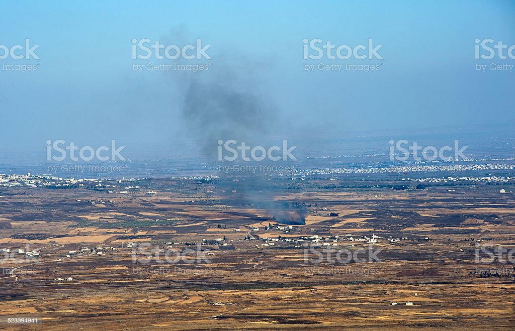 War in Syria stock photo