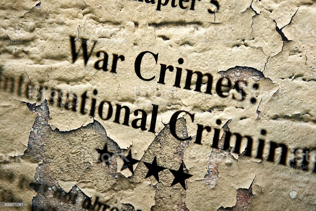 War internation crimes stock photo