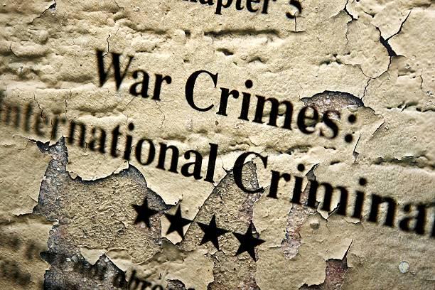 internation crimini di guerra - foto stock