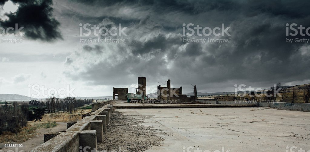 War landscape stock photo
