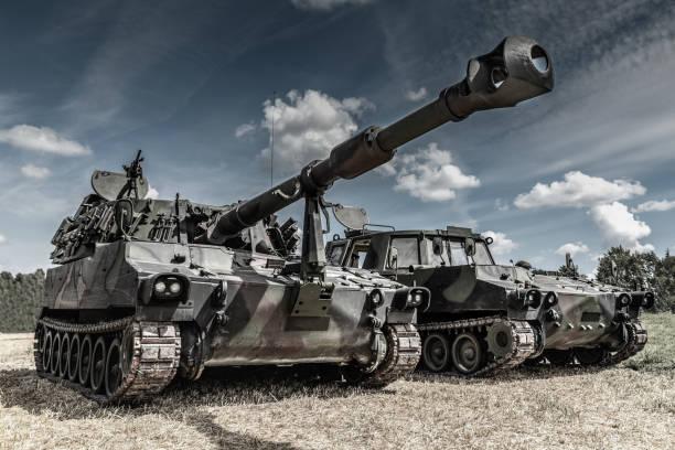war machines on the battlefield war machines on the battlefield battlefield stock pictures, royalty-free photos & images