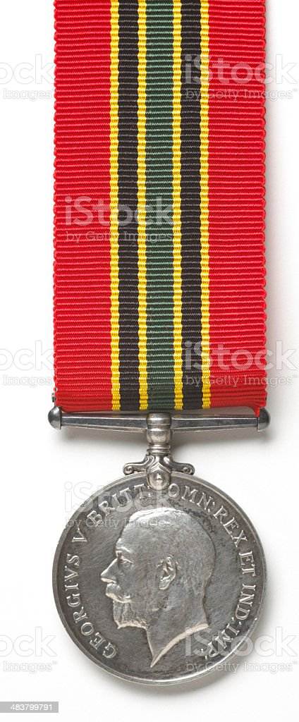 war medal on white stock photo