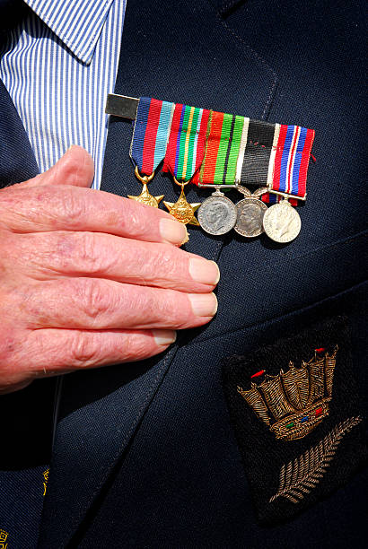war medals - nzgmw2017 stock pictures, royalty-free photos & images