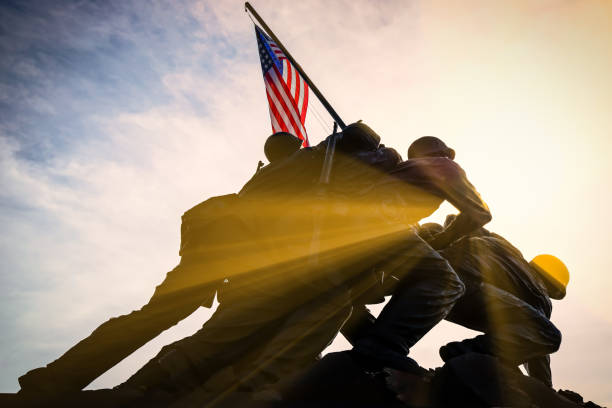 USMC War Memorial 3 stock photo
