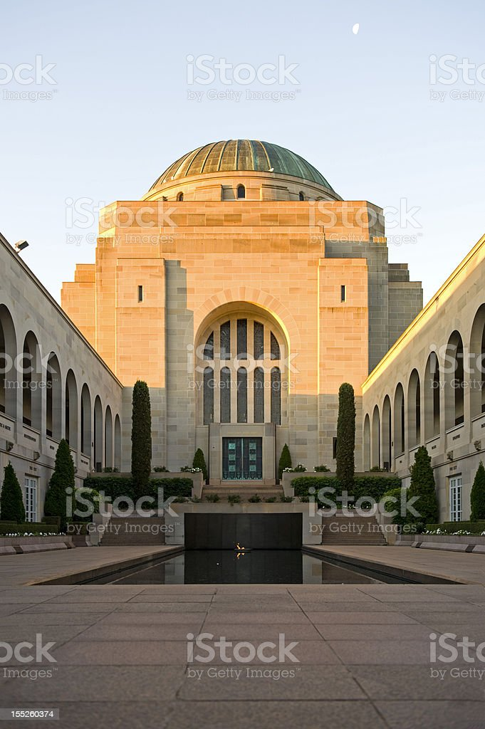 War Memorial at Canberra of Australia stock photo