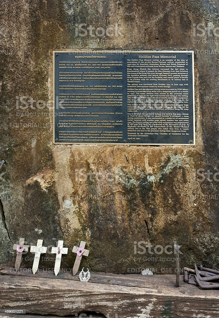 war memorial at Hellfire Pass Thailand royalty-free stock photo