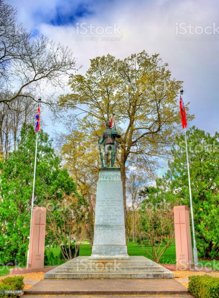 War memorial in Queen Victoria Park - Niagara Falls, Canada stock photo