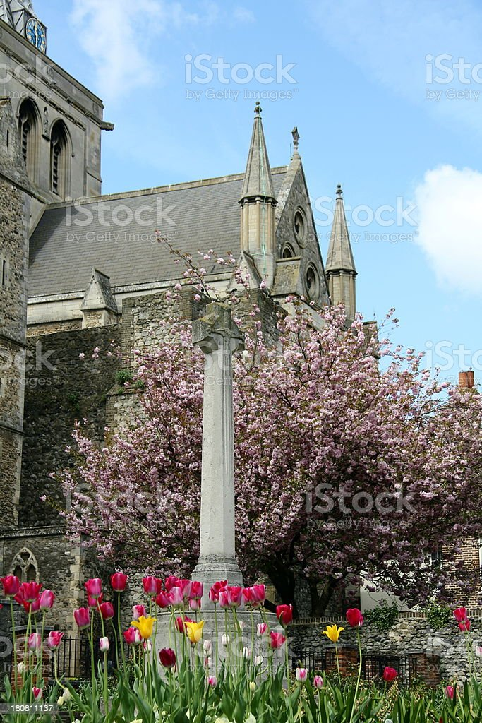 War memorial in Springtime royalty-free stock photo