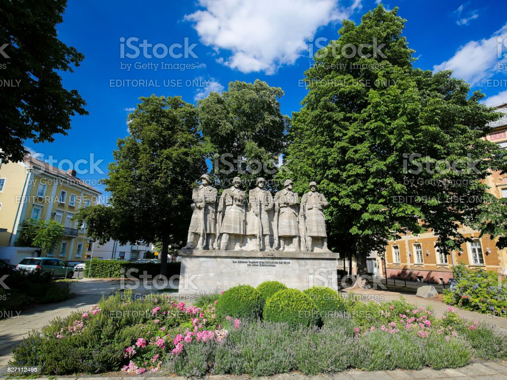 War Memorial in Worms, Germany stock photo