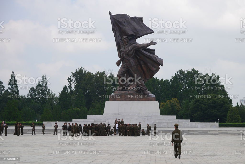 War memorial, North Korea stock photo