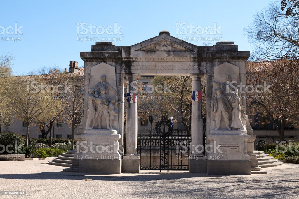 War memorial of Nîmes - Royalty-free 20th Century Stock Photo