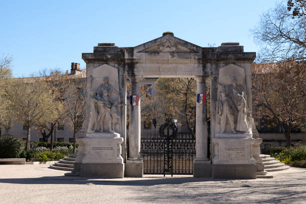 War memorial of Nîmes stock photo