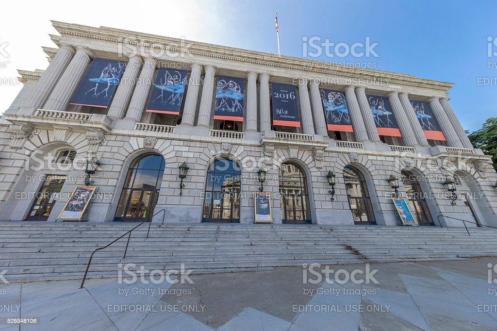 War Memorial Opera House in San Francisco stock photo