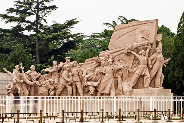 War Memorial, das mausoleum von Mao, den Platz des himmlischen Friedens – Peking, China – Foto