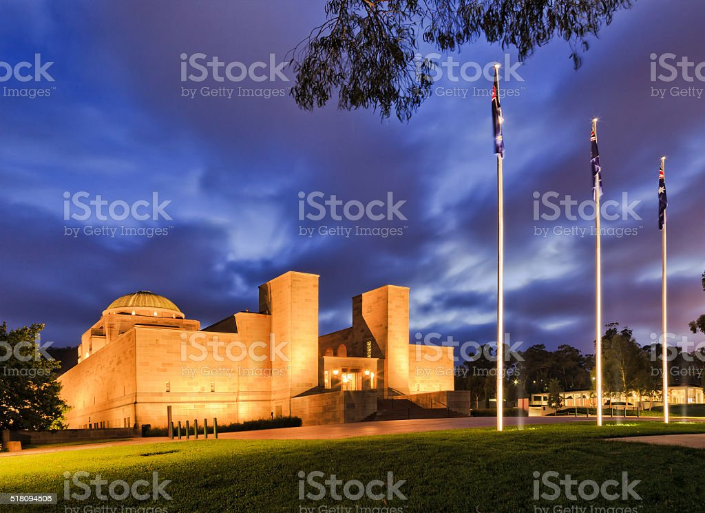 CAN War Memorial Side rise stock photo